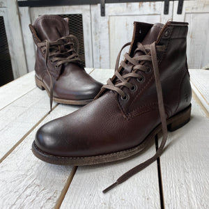 Frye Tyler Leather Lace Up Combat Chelsea Boot