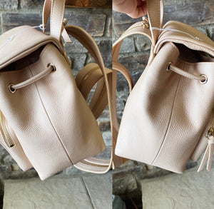 Jimmy Choo Suki Grainy Leather Drawstring Backpack