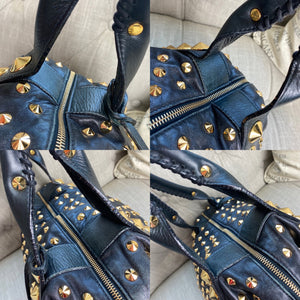 Be&D Garbo Studded Lamb Leather Satchel