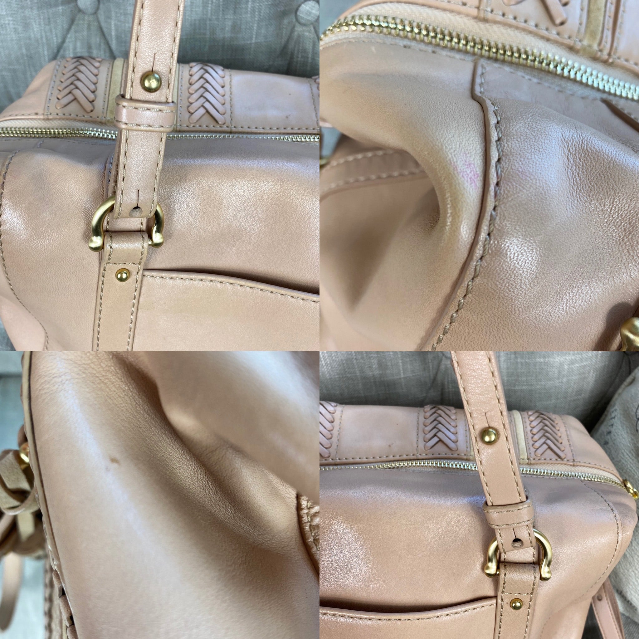 Brahmin Delaney Satchel Khaki Knoxville