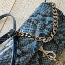 Load image into Gallery viewer, Rebecca Minkoff Edie Embossed Python Wallet on Chain