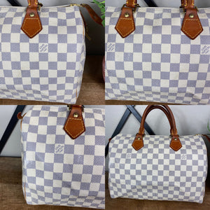 Louis Vuitton Azur Speedy 30 Satchel