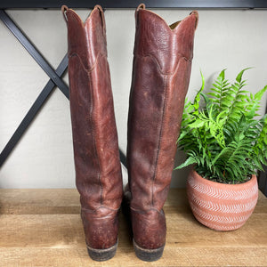 Frye Leather Pull On Tall Boots