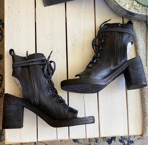 Free People City of Lights Lace Up Boot Heel