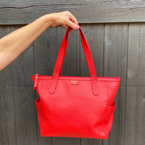 Fossil Mimi Shopper Pebbled Leather Tote