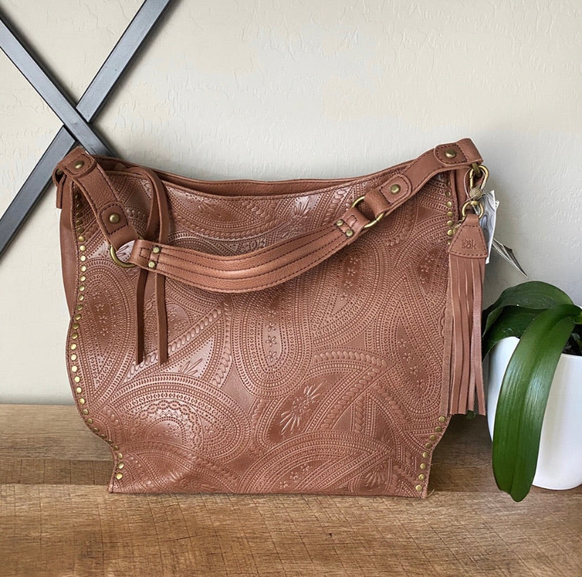 The Sak Sequoia Tooled Leather Hobo Shoulder Bag