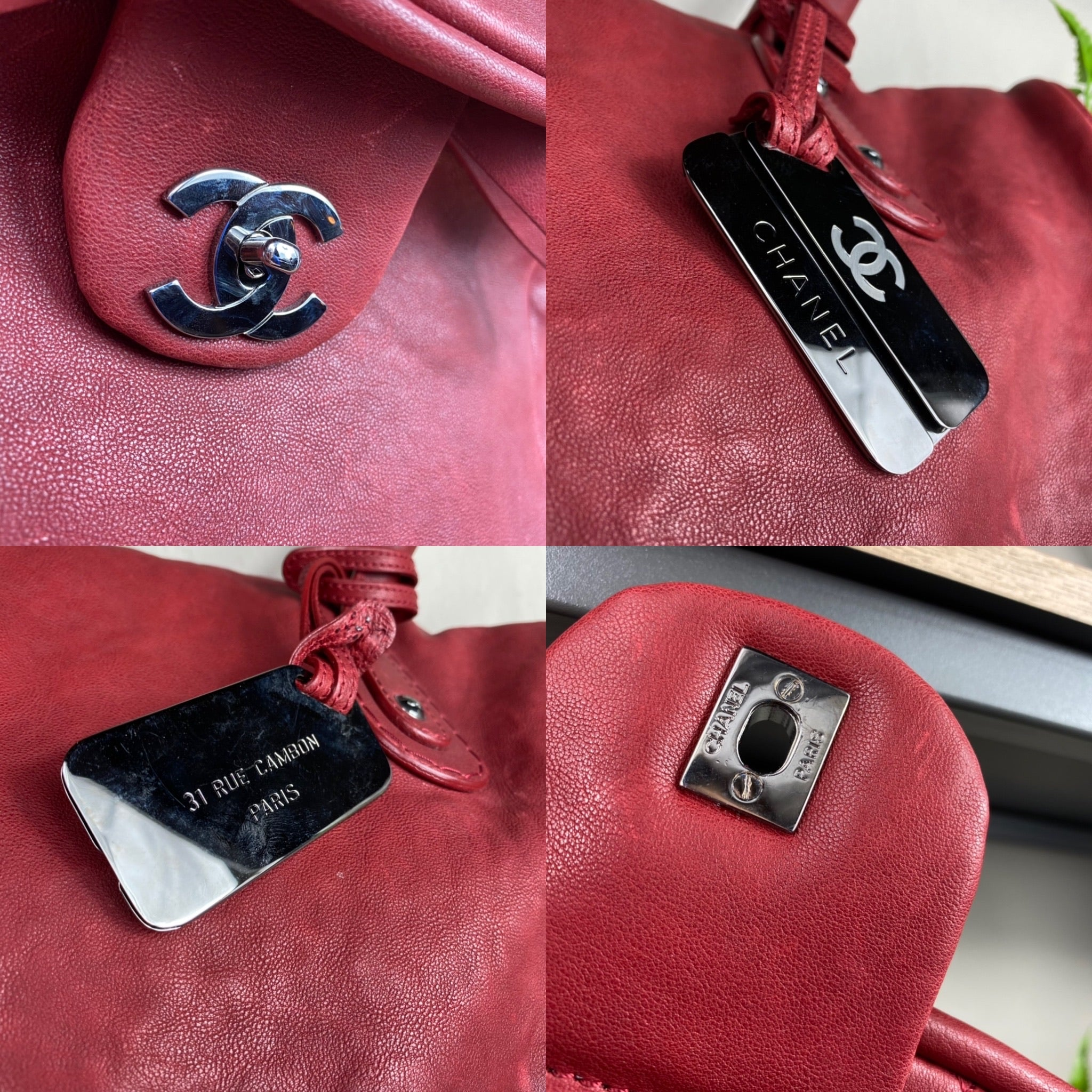 Chanel Large Leather CC Travel Bag