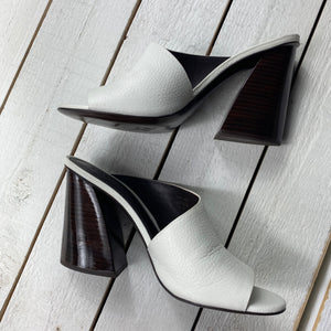 Mercedes Castillo Kuri Peep Toe Leather Heels