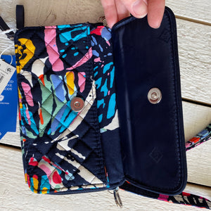 Vera Bradley Quilted Zip Around Wallet Wristlet