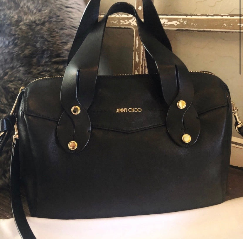 Jimmy Choo Artie Smooth Leather Satchel