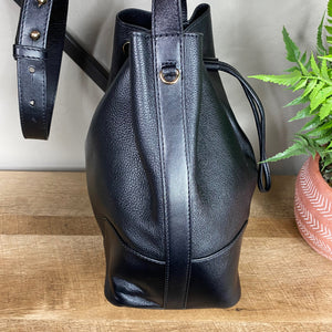 Michael Kors Cary Leather Bucket Bag