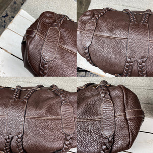 Mulberry Large Braided Leather Satchel