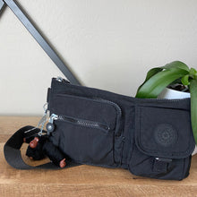 Load image into Gallery viewer, Kipling Presto Black Tonal Belt Bag Fanny Pack