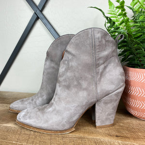 Sigerson Morrison Cowgirl Suede Leather Ankle Boot
