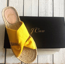Load image into Gallery viewer, J. Crew Twisted Knot Espadrille Sandal