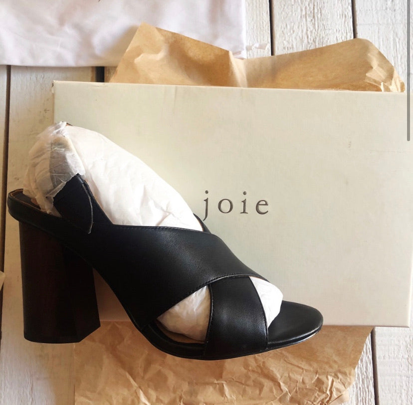 Joie Olesia Leather Block Heel Sandal