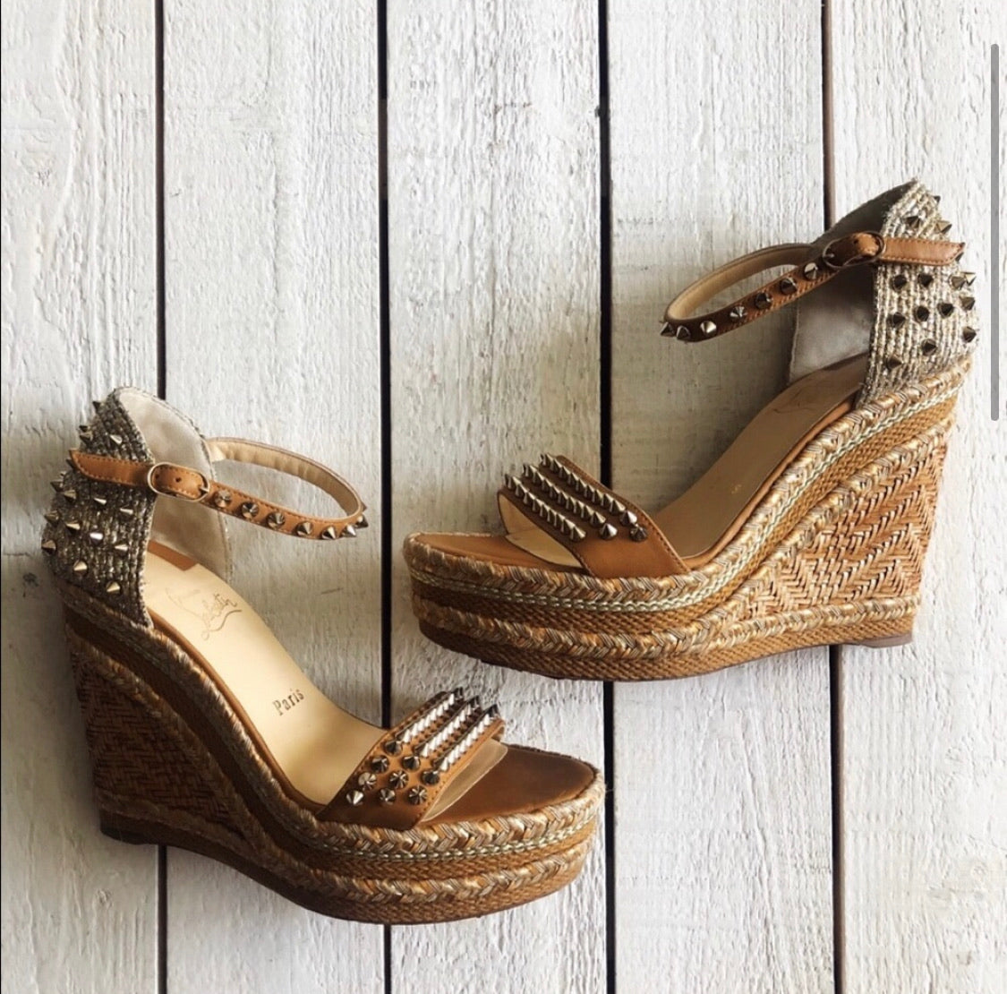 Christian Louboutin Madmonica Espadrille Wedges