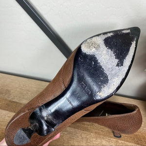 Prada Vintage Leather Bow Pointed Toe Pump