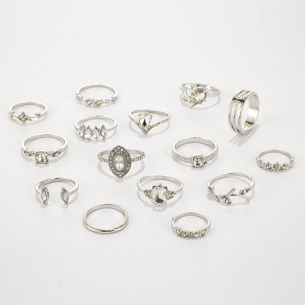One Set Of 15 Vintage Rings