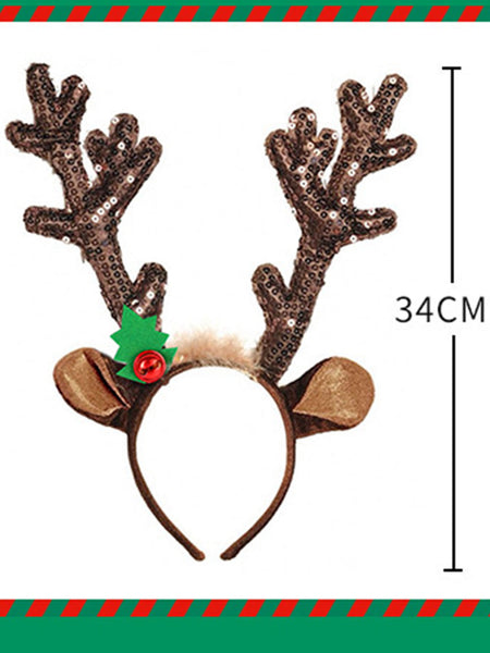 Bells Christmas Antlers Headband Christmas Decoration Headwear Hair Accessories Ornaments Gifts Christmas Headband