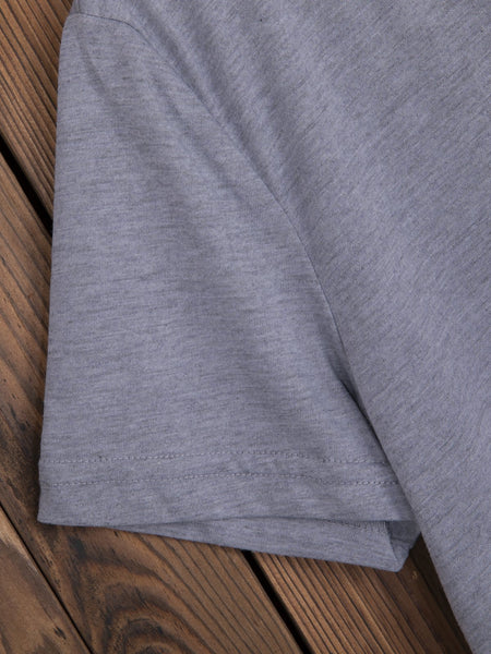Gray Cotton-Blend Short Sleeve Shirts & Tops