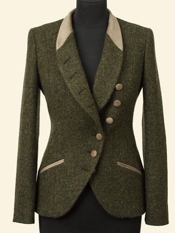 Vintage green wool coat