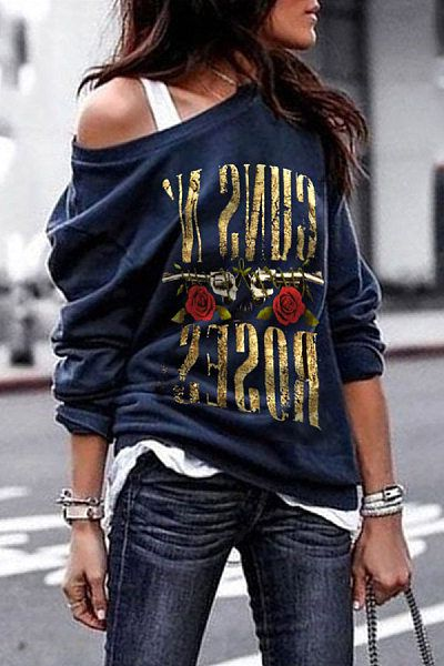 PRINTED LETTER CASUAL SHIRTS & TOPS