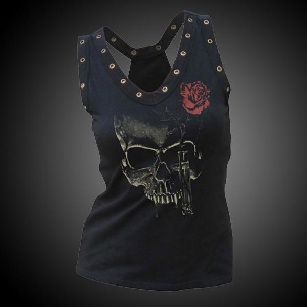 Skull And Rose Tank Top