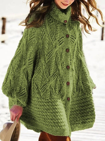 Retro fashion knitted warm cotton jacket