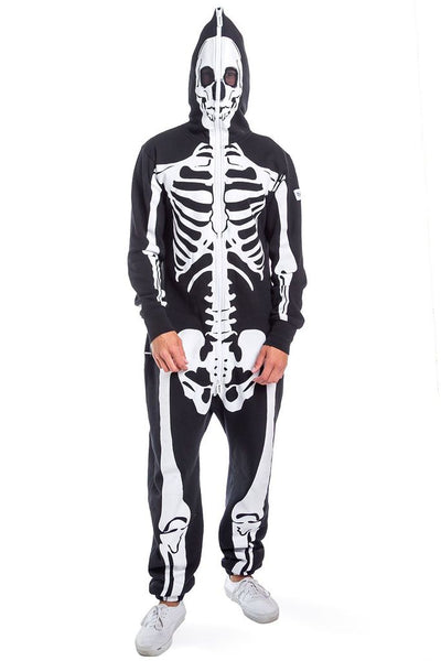 Halloween costume for men with skeleton frame