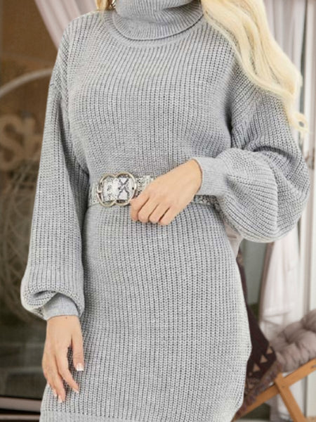 GRAY KNITTED VINTAGE DRESSES
