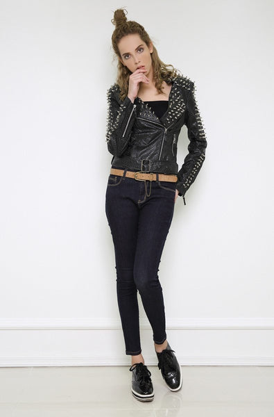 Motorcycle Jackets with Spikes for Women in Rock Style / Alternative Fashion