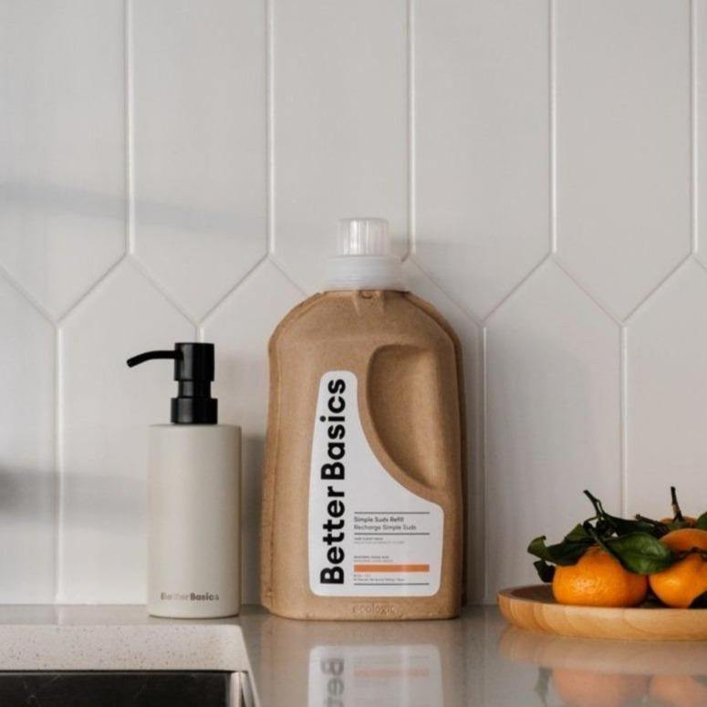 Simple Suds Soap Refill Starter Kit: Mandarin - Kit - Better Basics Eco-Friendly Products - Vancouver Canada
