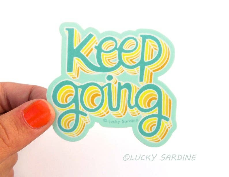 Keep Going Vinyl Sticker