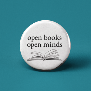 Open Books Open Minds Pinback Button
