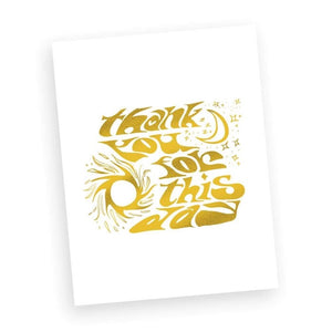 Thank you for this day print (Gold + White)