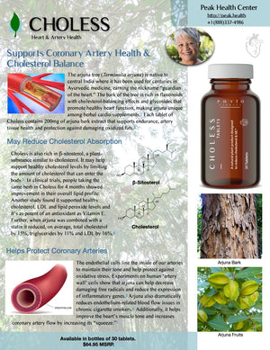 Choless: Supports Cholesterol Balance & Coronary Artery Health - PeakHealthCenter
