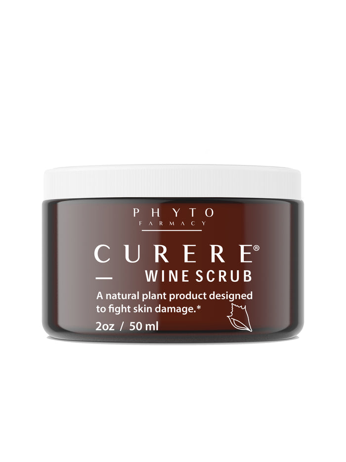 Curere Wine Scrub: Elegant Natural Exfoliant & Complete Skincare Solution