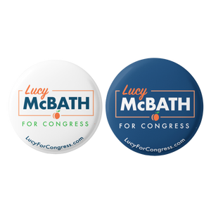Lucy McBath for Congress Button 2-Pack