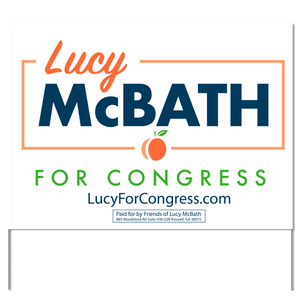 Lucy McBath for Congress Yard Sign
