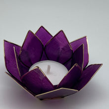 "Load image into Gallery viewer, Capiz Shell Lotus 4"" Tealights"