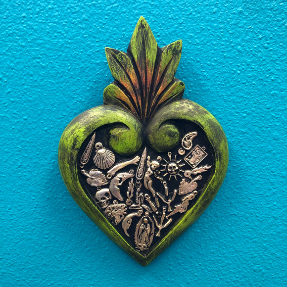 Hand-Carved Milagro Heart