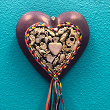Load image into Gallery viewer, Hand-Carved Milagro Heart with Ribbon Tail