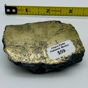 Chaco Pyrite Specimen - One Side Polished