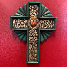 Load image into Gallery viewer, Hand Carved Milagro Cross