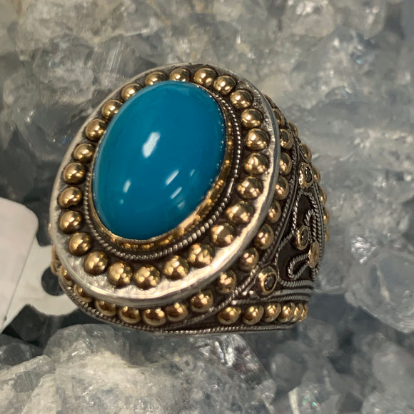 Turquoise Ring Size 7 D204