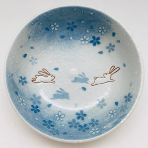 Japanese Porcelain Bunny Bowl