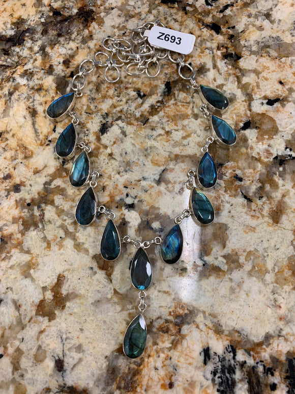 Labradorite Necklace Z693
