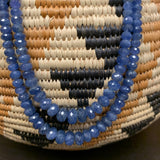 Sapphire Double Strand Beaded Necklace D119