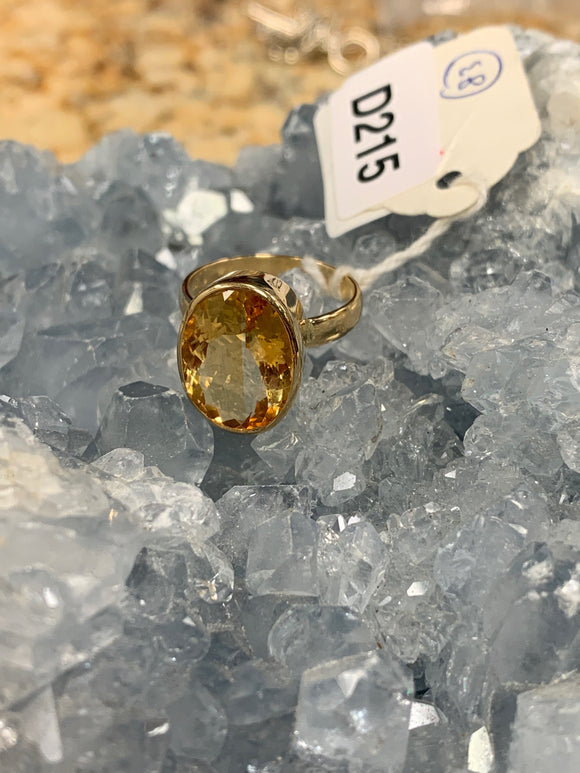 Citrine Ring in 18k Gold Size 7 D215